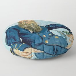 "Vincent Van Gogh ""Portrait of the Postman Joseph Roulin"" Floor Pillow"