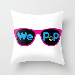 WePop Logo Throw Pillow
