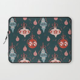 Floral Christmas Baubles Laptop Sleeve