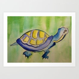 Curious Turtle Art Print