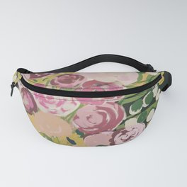 Florals- Vintage vibes- pink and greens Fanny Pack