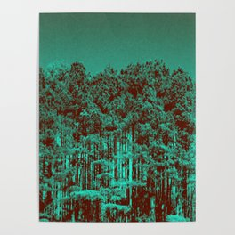 Minty Green Forest Poster