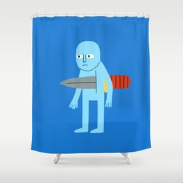 Knife Shower Curtain