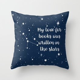 CANCER: Written in the Stars Throw Pillow