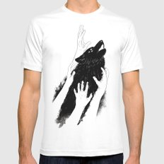 Wolves of Paris White Mens Fitted Tee MEDIUM