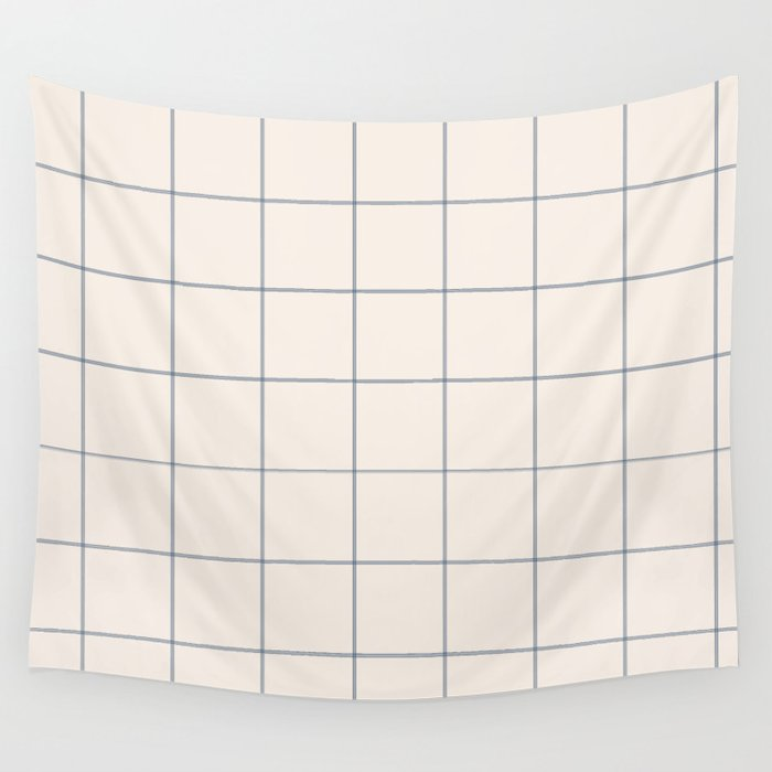 windowpane plaid Wall Tapestry