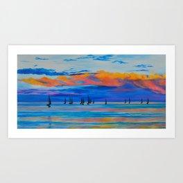 I'd Rather Be Sailing by Teresa Thompson Art Print