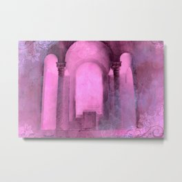 Fairy Tale Surreal Abstract Pink Arch Architecture Metal Print