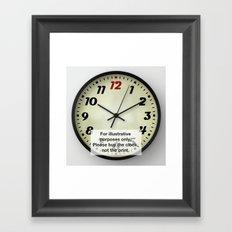 Retro Clock Framed Art Print