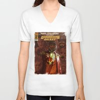 guardians of the galaxy V-neck T-shirts featuring Guardians of The Galaxy  by Juan Hugo Martinez Illustrations