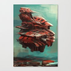 Mother ship hovering Canvas Print