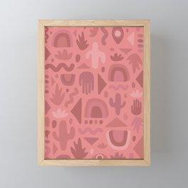 Mauve Cutout Print Framed Mini Art Print