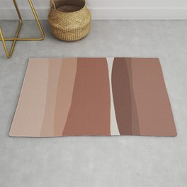 Modern Blush, Pink Painting, Pink Ombre Rug