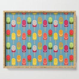 Fruit popsicles - blue version Serving Tray