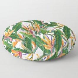 bird of paradise pattern Floor Pillow
