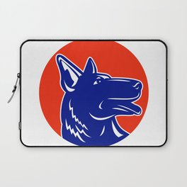 German Shepherd Silhouette Mascot Laptop Sleeve