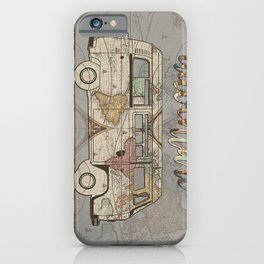 adventure awaits world map design 1 iPhone Case