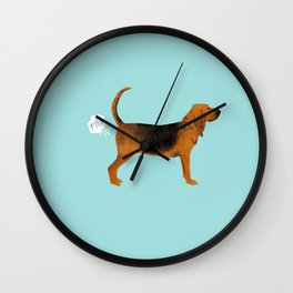 Bloodhound dog breed funny dog fart Wall Clock