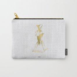 Little Gold Ruffle Dress Carry-All Pouch