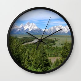 Snake River And The Grand Tetons Wall Clock