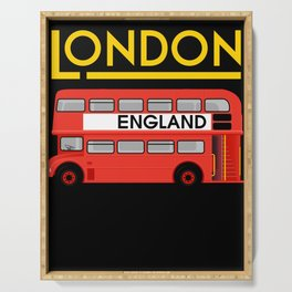 London England Double Decker Bus Driver Serving Tray