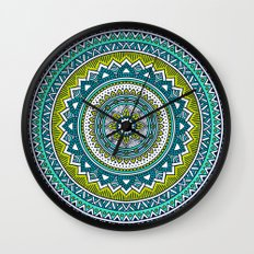 Hippie Mandala 2 Wall Clock