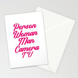 Person Woman Man Camera TV Cognition And Brain Health Stationery Cards