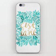 That's Life – Turquoise & Gold iPhone & iPod Skin