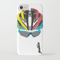 cycling iPhone & iPod Cases featuring Cycling Face by Pedlin