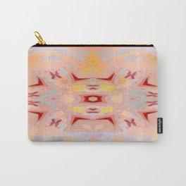 Abstract Zen - Red Butterflies Carry-All Pouch