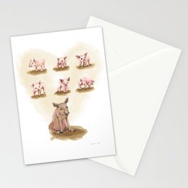 Free range piggies Stationery Cards
