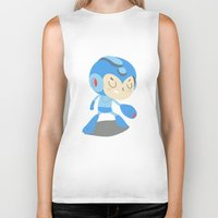 mega man Biker Tanks featuring Mega Man by Rod Perich