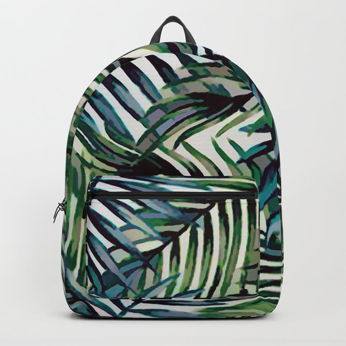 Palm Leaves Abstract Backpack