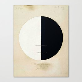 Hilma af Klint, Buddha's Standpoint in the Earthly Life, 1920 Canvas Print