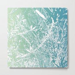 Blue Floral Art Metal Print