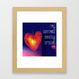 H. Murakami quote -1 Framed Art Print