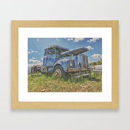 Old warrior Framed Art Print