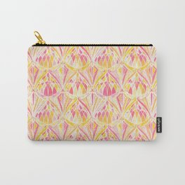 Art Deco Pattern in Pink and Orange Carry-All Pouch