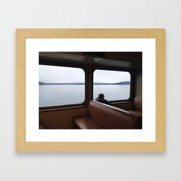 Orcas Island Ferry Commuter  Framed Art Print
