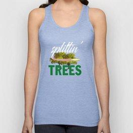 Splittin' Trees Funny Disc Golf Unisex Tank Top