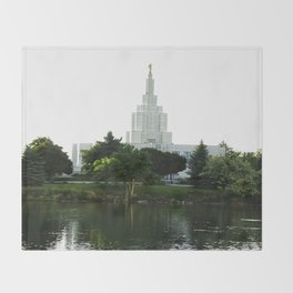 Idaho Falls Temple - Early Morning Throw Blanket