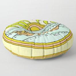 peaceful hammock life Floor Pillow