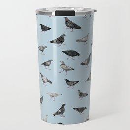 Pigeons Doing Pigeon Things Travel Mug