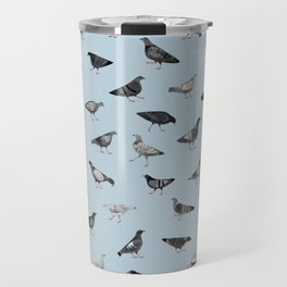 Pigeons Doing Pigeon Things Travel Mug