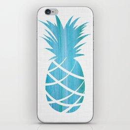 Blue Striped Pineapple iPhone Skin