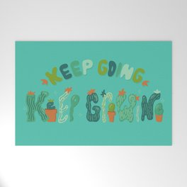 Keep Going Keep Growing Welcome Mat