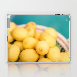 Yellow lemons next to a turquoise pool. | Colorful food photography, tropical feel. Laptop & iPad Skin