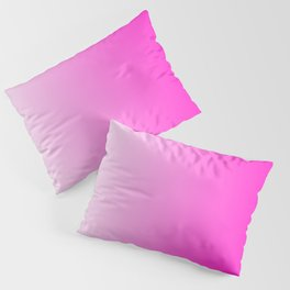 White and Pink Gradient 044 Pillow Sham