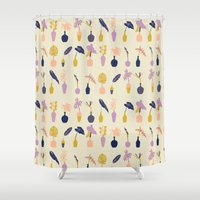 plants Shower Curtains featuring Plants by Sofia Noceti
