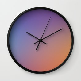 PUMPKIN CURSE - Minimal Plain Soft Mood Color Blend Prints Wall Clock